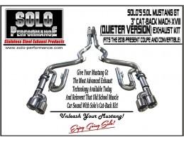 2018 Present Cat Back Street Race Xviii Exhaust System 5 0l Ford