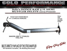 2019-Present Dodge Ram 5 7L Solo Hemi Muffler Delete and Resonator Options